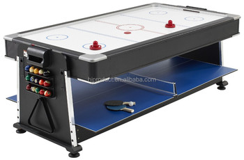 Genial Full Size 6ft Professional 4 In 1 Multigames Table Comprising Pool, Air