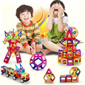 108PCS Mini Magnetic Designer Construction Kids Educational Toys for Children Plastic Bricks Enlighten Magnetic Building Blocks