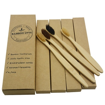 eco-friendly hotel slippers travel bamboo toothbrush pack of 4