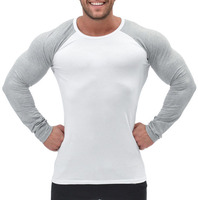 Fashionable custom men compression wear fitness clothing long sleeve shirts for men