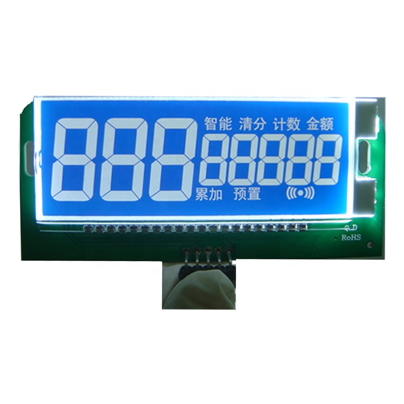 custom STN blue background white text small lcd display