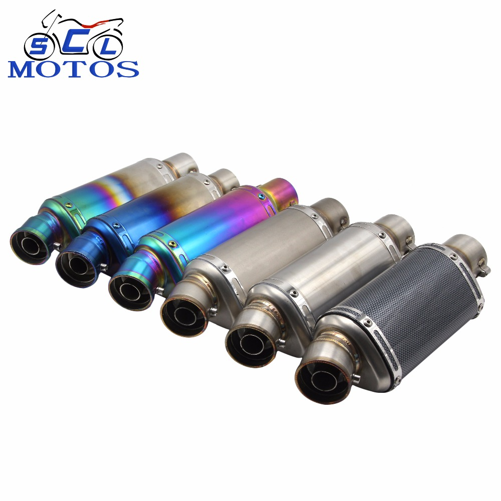 Manufacturer sale full color-plated round unique design durable 250cc motorcycle muffler