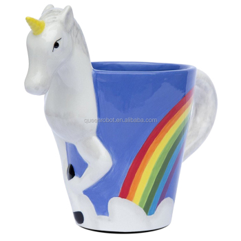 Unicorn 3D Rainbow Ceramic Coffee Mug Cup In Stock ThinkGeek Amazon FBA eBay