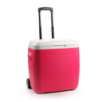 Plastic trolley Insulated Cooler bag box, wheeled hard shell ice box,rolling rigid Ice Refrigerated Cooler box bag