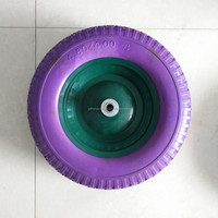 Cheap Colorful 16inch 4.00-8 pu foam tyre wheel for wheelbarrow