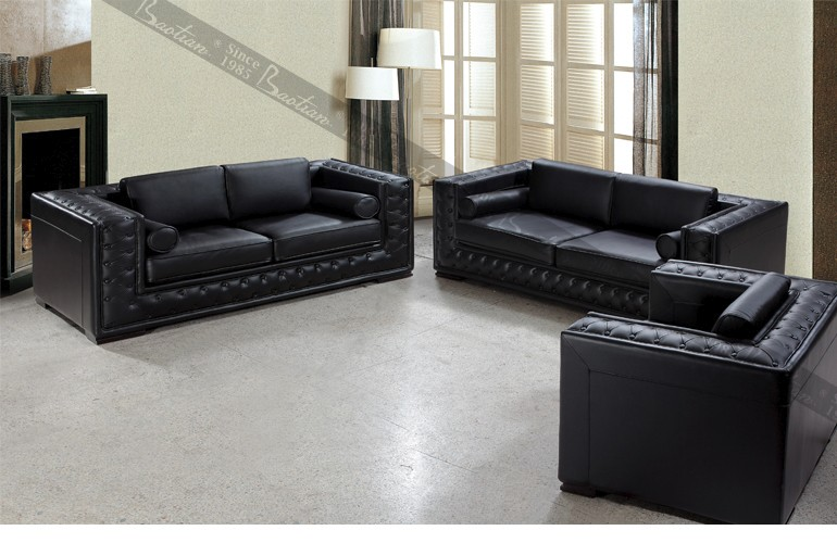 Livingroom Furniture Sofa Set Chesterfiled Leather