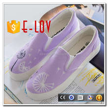 New fashion high heel white canvas tennis shoes for women