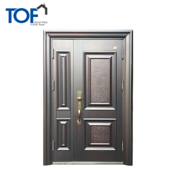 TOF New Design Decorative Security Steel Door Price Metal Dutch Door