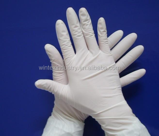 long cuff latex gloves sterile
