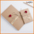 Wholesale Cheap Custom Print Logo kraft string envelopes with flower