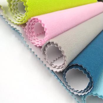 Woven solid dyed make to order supply moq 1000 yards/color waterproof breathable 3 layer bonded fleece fabric for jacket