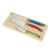 Durable laguiole style handle stainless steel cheese butter knife 6pcs with wood case