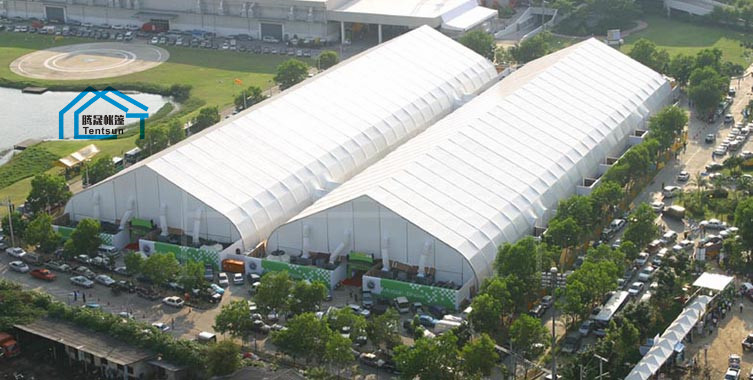High Quality  Aluminium Alloy Airport Outdoor Curved Tent