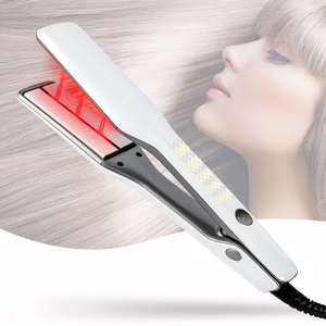 flat iron ceramic professional nano titanium tourmaline infrared hair straightener