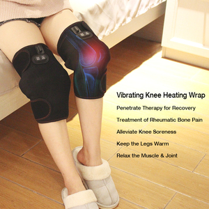 Adjustable Far-Infrared DC Adapter or USB Port Electric Massaging and Heating Pad for Knee Pain Relief