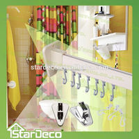 Z195 Wholesale Aluminum Adjustable Shower Curtain Rod/t shaped curtain tracks