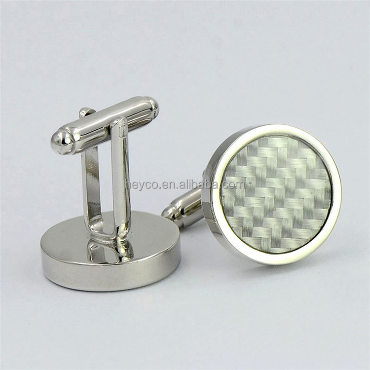 Heyco high quality custom business granny ash knit cufflinks for shirt