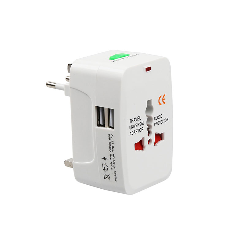 Promotional Gift Portabl White All In One Universal Multi Plug Sockets International Travel Adapter