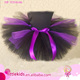 Boutique Puffy Baby Girls Ballet Tutu halloween Skirt Tulle Fabric Fluffy Kids purple black Tutu Dress With Bow Ribbon