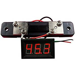 Angelelec DIY Open Source Power Module, Red Led 50A DC Ammeter, Adopts Wide Voltage Power Supply (4-30V), Includes a Reverse Protection, Very Suitable for Integration on the ROBOT Project Low Power