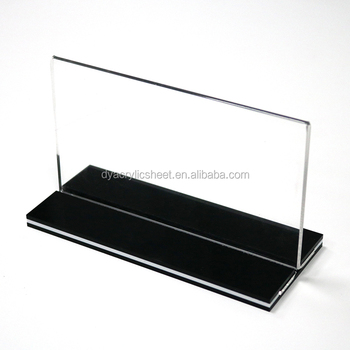 plastic sign holder acrylic mobile phone display stand acrylic magnetic sign holder