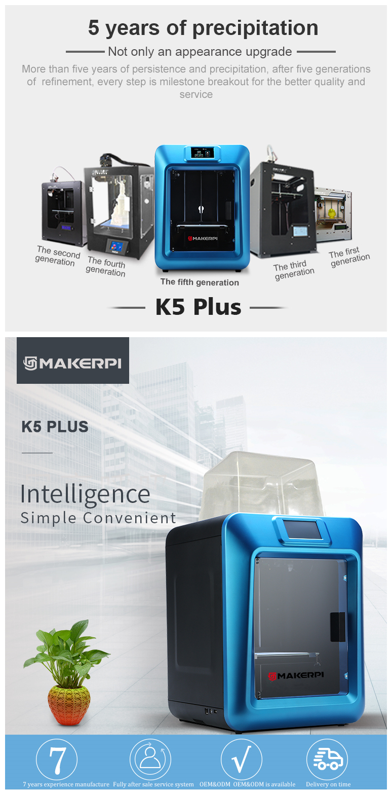 MakerPi K5Plus Desktop Diy 3D Printer