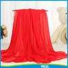 Wholesale summer women solid color red silk chiffon scarf