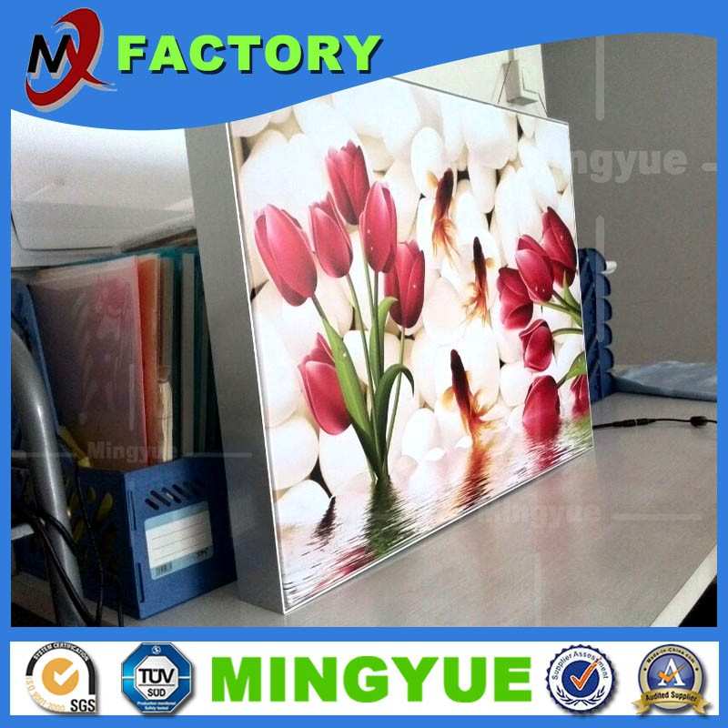 Mingyue China factory high quality battery powered led light box, photo picture frame, waterproof picture frame