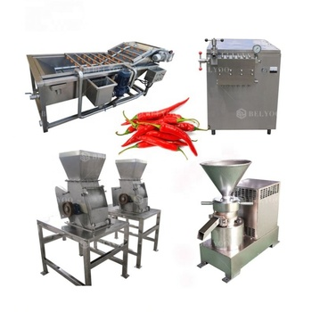 Commercial pepper grinder chilli paste sauce red pepper chili sauce processing machine chili paste machine