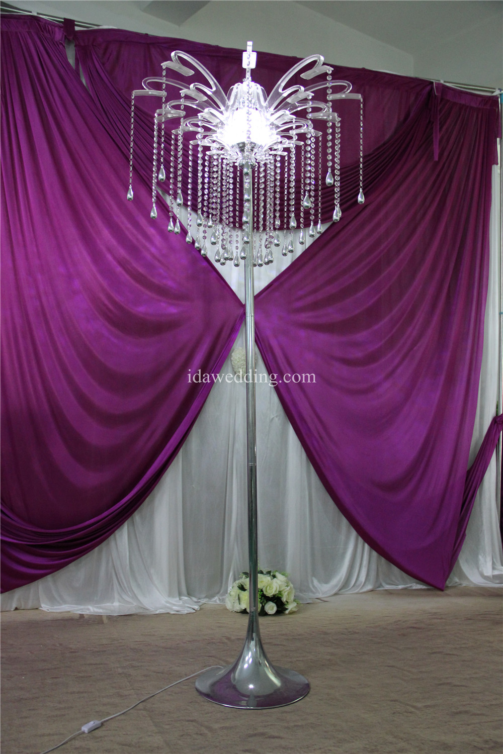 High Quality Pillar Decoration For Wedding With Crystal Beads