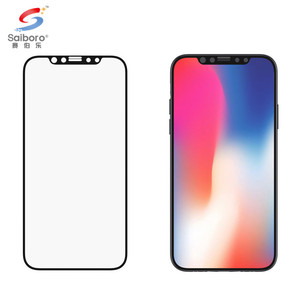 Saiboro 9h wholesale 360 protective for iphone x 8 clear screen protector 3d tempered glass guard anti scratch