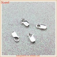 Guangzhou SLand wholesale DIY Jewelry Findings solid 925 Sterling Silver Lobster Claw Clasps for Bracelet or Necklace