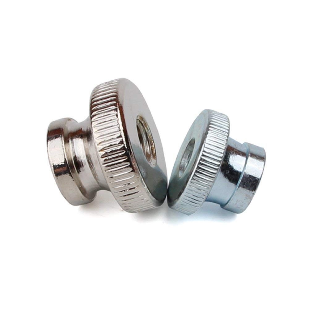 uxcell a16050300ux0487 Knurled Thumb Nuts M6 304 Stainless Steel Metric Knurled Thumb Nuts 5 Pcs for 3D Printer Heated Bed