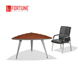 Modern office furniture small triangle conference table with aluminum leg(FOH-C21214)