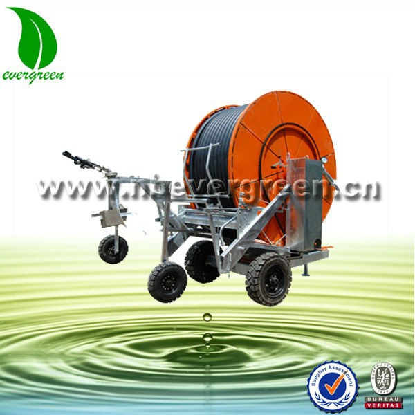 JP75-400TX Hose Reel Irrigation machinery with Gun Sprinkler