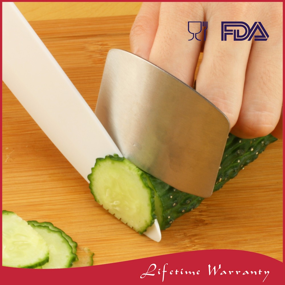 Stainess steel kitchen cooking finger guard protector for cutting vegetables