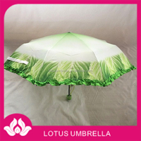 fashioable custom 2 folding 8 K chinese cabbage umbrella