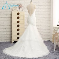 Covered Button Lace Appliques Sequined Beading Wedding Dress