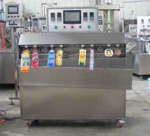 semi automatic plastic bags filling machine Japan tofu packing machine