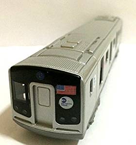 "7.5"" New York City MTA subway E train diecast Car model with light & sound"