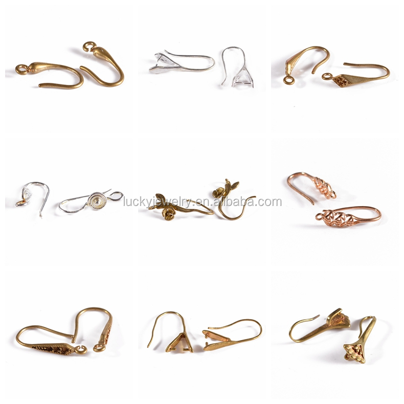 Wholesale Price Top Quality Wholesale Jewelry Components Gold Plated Earrings Finding