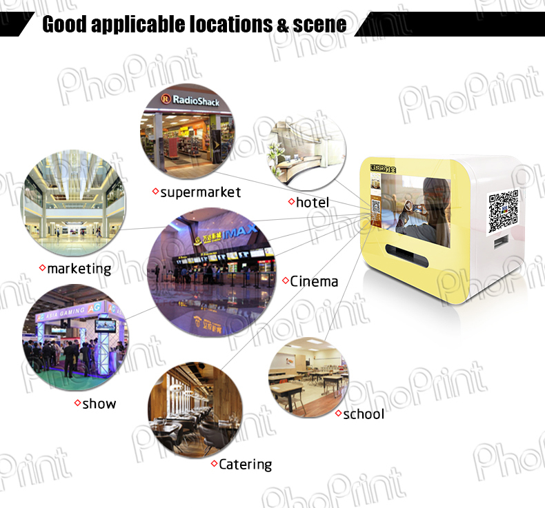 Digital signage ad player minilab photo booth insta-gram print machine case shell oem vending photo kiosk boft case custom made