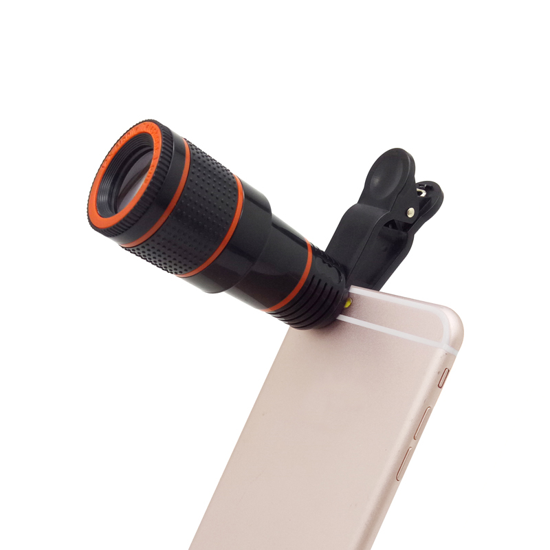 Best selling smart mobile phone camera lens 12x Zoom telescope universal clip telephoto for phone