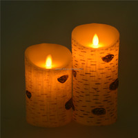 Customed Luxury Brand 3 piece a set pillar multi-color safe led candle/christmas led candle