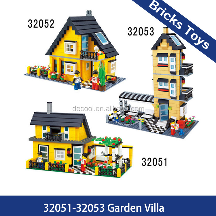 Educational toys Wange villa series 32051-32053 funny house building blocks bricks for children