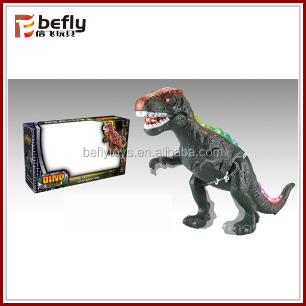Battery operated dinosaur toy with light and sound