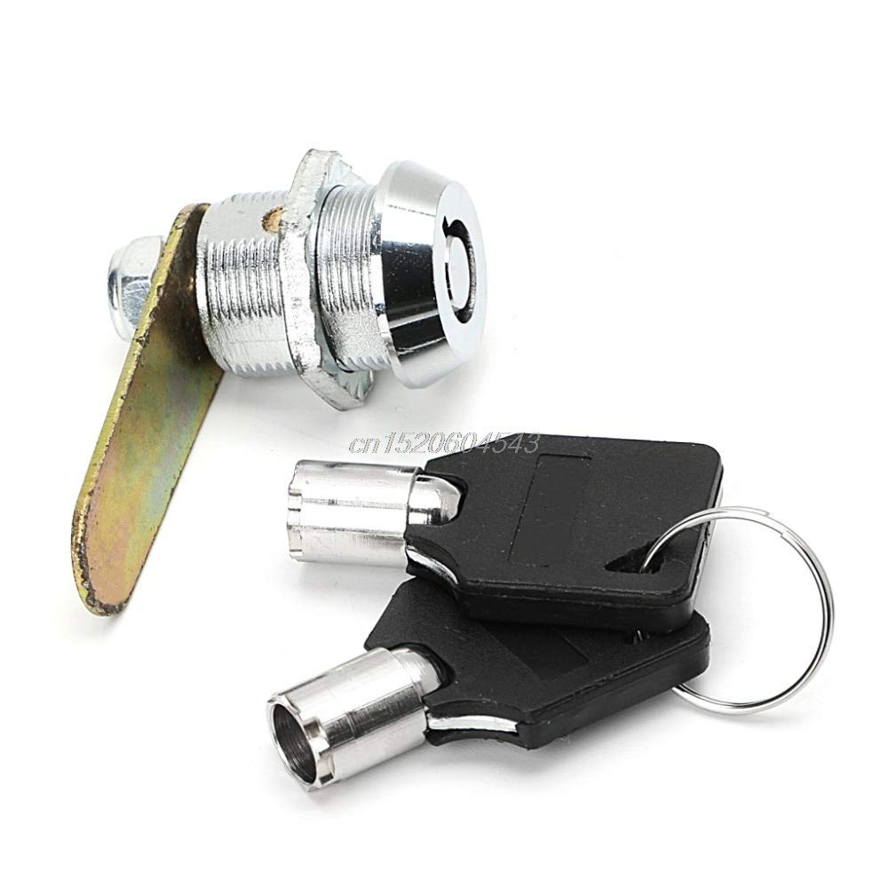 NJPOWER Drawer Tubular Cam Lock For Door Mailbox Cabinet Cupboard w/2 Keys 20mm Locks R06 Drop Ship