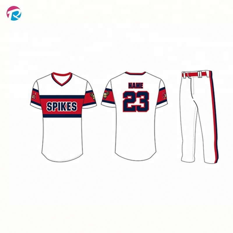 Hot Koop Custom Made Gestreepte Baseball Uniform/Baseball Jersey