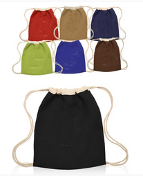 Customized Jute Drawstring Backpacks Printed with Logo Design