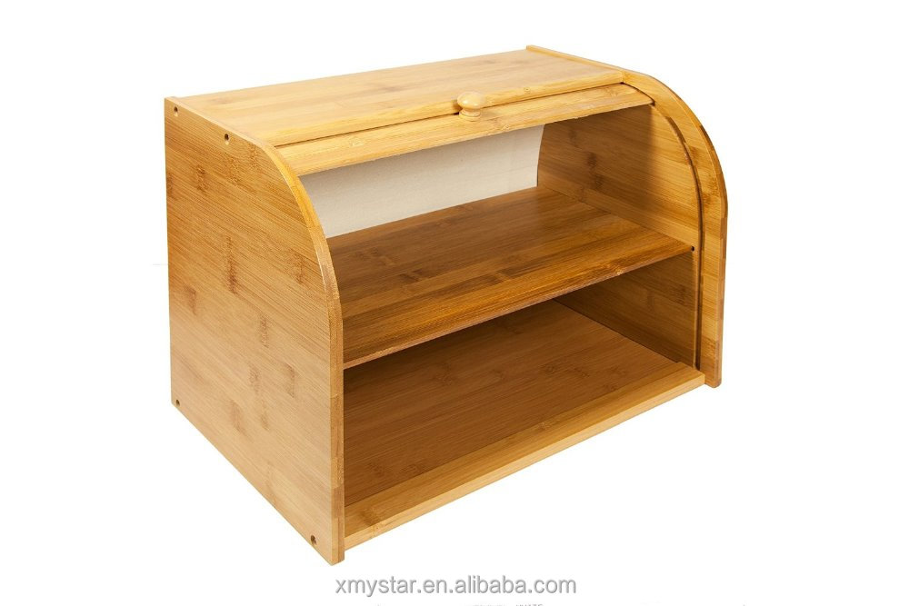 Bamboo Bread Box, Bamboo Bread Box Suppliers And Manufacturers At  Alibaba.com